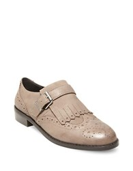 Design Lab Lord And Taylor Ice Wingtip Toe Leather Shoes Stone