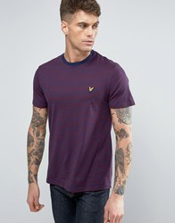Lyle And Scott Stripe T Shirt Regular Fit Eagle Logo In Navy Navy