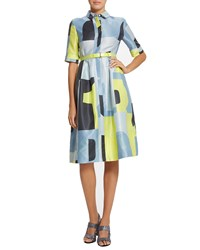 Raoul Ava Graphic Print Shirtdress Rubiks