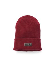 Under Armour Ribbed Beanie Hat Red