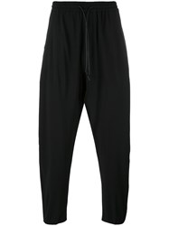 Isabel Benenato Elastic Waistband Trousers Black