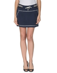 Galliano Mini Skirts Blue