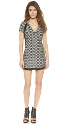Twelfth St. By Cynthia Vincent Beaded Shift Dress Tan