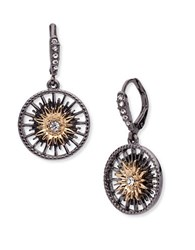 Jenny Packham Hematite And 9K Goldplated Drop Earrings