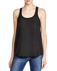 Aqua Boho Bead Trim Tank Black