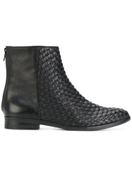 The Last Conspiracy Woven Ankle Boots Calf Leather Leather Black
