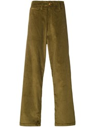 E. Tautz Corduroy Field Trousers Green