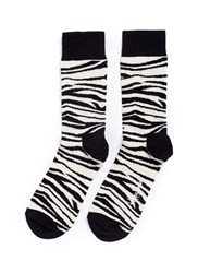 Happy Socks Zebra Stripe Multi Colour