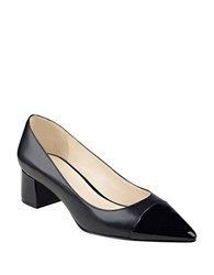 Nine West Dalzel Point Toe Cap Pumps Black Black