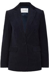 Frame Cotton Blend Corduroy Blazer Navy