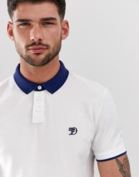 Tom Tailor Polo With Contrast Collar White