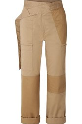 Monse Cotton Blend Drill Straight Leg Pants Beige