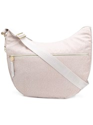 Borbonese Large Hobo Bag Neutrals