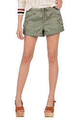 Volcom Women's Stash Shorts Green Army