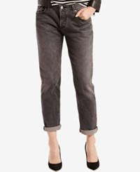 Levi's 501 Ct Customized Tapered Boyfriend Jeans Black Coast
