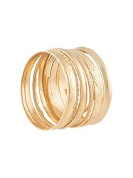 Undercover Bangle Set Gold