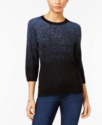 Ny Collection Petite Ombre Metallic Sweater Sky Blue