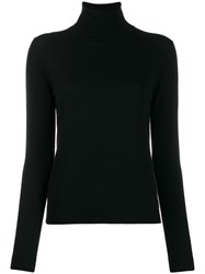 Aspesi Turtleneck Fine Knit Jumper Black