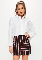 Missguided Tall Exclusive Black Striped Pocket Front Skirt