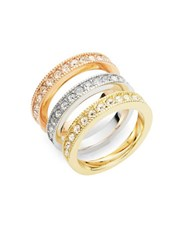 Michela Three Piece Pave Band Set Tri Color