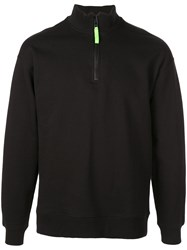 Opening Ceremony Zip Front Sweatshirt Black