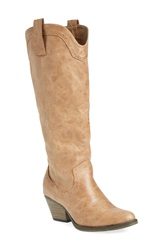 Mia 'Pawn' Boot Women Natural Faux Leather