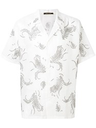 Roberto Cavalli Swarovski Embellished Shirt Cotton White