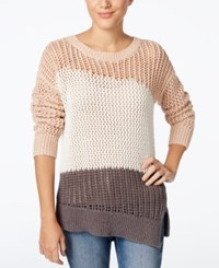 Calvin Klein Jeans Colorblocked Asymmetrical Sweater Rose Dust