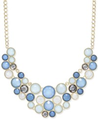 Inc International Concepts Gold Tone Black Stone Bib Necklace Only At Macy's Light Blue