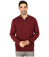 Nautica 1 4 Zip Sweater Winds Wine Men's Sweater Red
