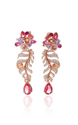 Anabela Chan M'o Exclusive Padparadscha Palm Earrings Pink