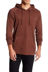 Jeremiah Blaine Double Layer Jersey Hoodie Red