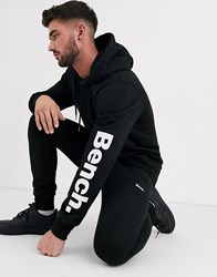 Bench Co Ord Hoodie In Relaxed Fit With Side Logo In Black