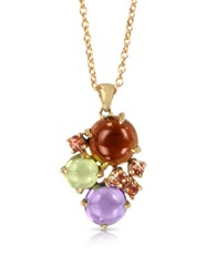 Mia And Beverly Gemstones 18K Rose Gold Pendant Necklace Red