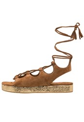 Kennel Schmenger Neo Platform Sandals Cognac Gold