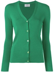 Prada Slim Fit Cardigan Green
