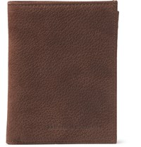 Brunello Cucinelli Full Grain Nubuck Billfold Wallet Brown