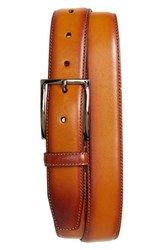 Nordstrom Big And Tall Men's Shop Marco Burnished Leather Belt Cognac