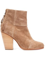 Rag And Bone Rear Zip Ankle Boots Brown