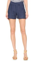 Veronica Beard Tropicana Tailored Shorts Navy