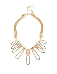 Kenneth Cole Pave Shell Geometric Necklace Gold