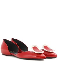 Roger Vivier Dorsay Sexy Choc Patent Leather Ballerinas Red