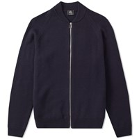 Paul Smith Zip Bomber Knit Blue