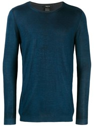 Avant Toi Lightweight Sweatshirt Blue