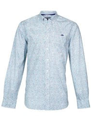 Raging Bull Long Sleeve Leaf Print Shirt White