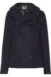 Nlst Double Breasted Wool Blend Peacoat Navy