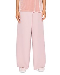 Ted Baker Says Relax Yasin Wide Leg Wrap Front Pants Dusky Pink