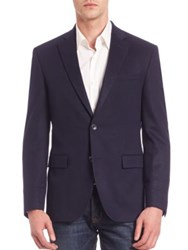 Saks Fifth Avenue Solid Cashmere Blazer Navy