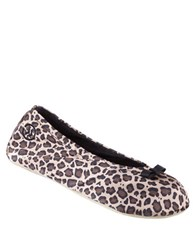 Isotoner Satin Ballerina Slippers Cheetah
