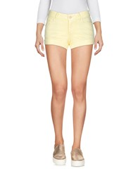 Refrigiwear Denim Denim Shorts Light Yellow